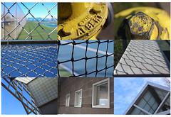Shapes & Repetition (Ethan H-M) Tags: bridgepreferenceslabelgreenapproved shapes repetition fire hydrant gate fence building leading lines polygons hexagons square