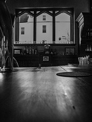 2019 - photo 065 of 365 - bar at Chruch Brewery (old_hippy1948) Tags: window bar snow glasses