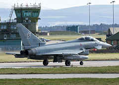 4 Stormo Eurofighter (np1991) Tags: royal air force raf lossiemouth lossie moray scotland united kingdom uk nikon digital slr dslr d7200 camera nikor 70200mm 70 200 70200 vr f28 lens aviation planes aircraft eurofighter typhoon f2000a f2000 italian italy itaf live armed irist missile 4 36 37 stormo