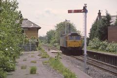 Thornton Down Light Engine (Arthur Stopow) Tags: thornton cleveleys fleetwood line ici poultonlefylde poulton station class 47