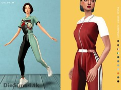 Polo Shirt Jumpsuit (wbayderda1) Tags: sims4 sims4mod pack sims 4 hairstyle house clothes make up