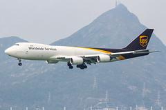 UPS B747-8F N605UP 001 (A.S. Kevin N.V.M.M. Chung) Tags: aviation aircraft aeroplane airport airlines plane spotting hkg boeing b747 747 jumbo jet cargo queen appoach landing
