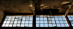... and outside is nice weather (Logris) Tags: abandoned decay windows fenster sky blue verfall bruch canon eos