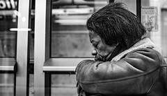 DSCF1258 (::nicolas ferrand simonnot::) Tags: black white streetphotography street photography bw portrait candid metro subway gate station wide open bokeh depth field fixed length vitage prime manual classic japanese primme lens noir et blanc monochrome olympus omsystem zuiko autos 50 mm f 14 70s | 8 blades aperture om mount paris 2018 using viltrox effx ii speed booster 071x