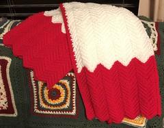 Crochet baby blanket (DMcRobert) Tags: handmade red white crochet ripple baby blanket