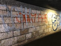 underground (Rosmarie Voegtli) Tags: graffiti wall passage underground railway odc ourdailychallenge untergrund dornach iphone