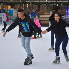 Picking up speed (radargeek) Tags: january 2019 okc oklahomacity myriadgardens devonicerink iceskating couple holdinghands