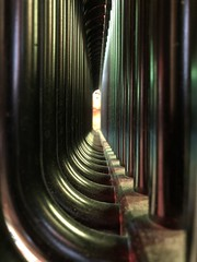 (The Man-Machine) Tags: tunnel office colors inside radiator heating