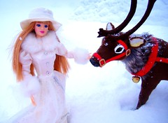 Father Christmas #3 (Bridget_John316) Tags: winter ride barbie mackie father christmas santa claus reindeer sled presents narnia