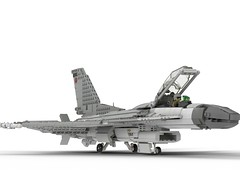 Lego F-16 Block 30 (czifra1981) Tags: lego f16 block 30 jet fighter fly viper falcon block30 airplane