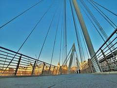 Golden Jubilee Bridge, London (brightondj) Tags: 2019february 2019 2010s london februaryheatwave river thames riverthames walktowork bridge goldenjubileebridge perspective