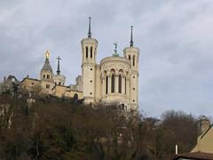 Basilica of Notre-Dame de Fourvière (jrw080578) Tags: trees church buildings france lyon