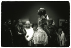 Little dancer of fourteen years (Tamakorox) Tags: paris france edgardegas muséed'orsay artmuseum art sculpture littledanceroffourteentears japan japanese canon f1 kodak iso400 tmax film ilfordrcpaper bw street light shadow analoguecamera 日本 日本人 光 影 喜び ルーヴル美術館 オルセー美術館 エドガードガ 14歳の小さな踊り子