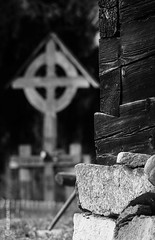 Gyard (tamnitok) Tags: rural symbol cross light shadow structure wood monochrome blackandwhite art handcraft architecture culture heritage religion greyscale