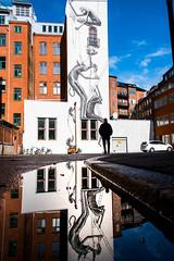 Reflection (Maria Eklind) Tags: phlegm mural malmö puddle reflection spegling city streetart puddlereflection sweden skånelän sverige se