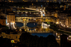 Ponte Vecchio - Florence Italy (dxd379) Tags: italy italia florence firenza europe ponte vecchio bridge arno river night photography longexposure reflection nikon d7100