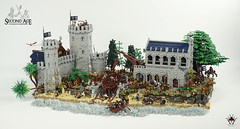 Lond Daer - Without the ship (Barthezz Brick) Tags: lego lond daer middle middleearth medieval fantasy moc afol barthezz barthezzbrick brick custom lotr lord rings lordoftherings shipyard pub castle wall city gollum