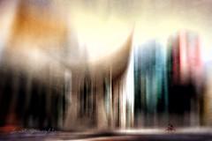Urban Dreams (Janet_Broughton) Tags: lensbaby sol45 urban blur blurry textured digitalart