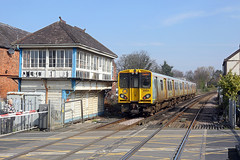 508131 Birkdale 6th April 2019 (John Eyres) Tags: 508131 leaving birkdale with 2s19 1036 hunts cross southport for some reason signal box has remained since closure 1994