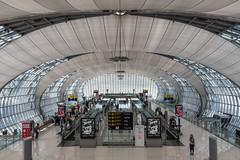 Time to wait (sarah_presh) Tags: bangkok airport suvarnabhumi thailand architecture interior nikond750 people passengers