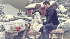 *I love snow for the same reason I love Christmas...it brings people together while time stands still* ❤ (Ⓐⓝⓖⓔⓛ (Angeleyes Roxley)) Tags: chez moi sled seat set cosmopolitan hud event sl secondlife rustic table coffee rez props mainstore mesh