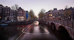 U Turn Trails (M. Nasr88) Tags: amsterdam autumn architecture city canal d750 digital fall europe longexposure water urban travel thenetherlands sunset nikon naturallight amesterdam
