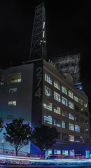 274 brannan street (pbo31) Tags: sanfrancisco california nikon d810 color night dark january 2019 boury pbo31 panorama large stitched panoramic industrial brannan soma southbeach billboard 274 lightstream motion traffic roadway black city urban