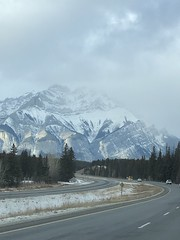 another mountain round the corner! (Jeannine DW) Tags: mountains winter banff rockies canada road trees roadtrip canadianrockies snow nature