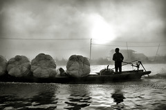 Inle lake waterway (Neal J.Wilson) Tags: myanmar burma asia boats inle lake water working silhouette sunrise dawn sunsets transport boat