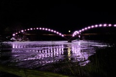 The Tridge - Midland, MI (dangaken) Tags: greatlakesbay gogreatlakesbay saginawbayregion greatlakesbayregion midmichigan tricities midwest usa michigan mi mich puremichigan winter michiganwinter cold ice snow 2019 baycitymi baycity midland midlandmi tridge tribridgechippewa rivertittabawasee riverchippewatitabawasseecity modern explorersfujifujifilm xt2 river bridge park iceflow frozen frozenriver polarvortex reflection fujinonxf1655mmf28rlmwr fujilmxf1655mmf28rlmwr fujixf1655mmf28 night light lights twinkle dark evening nighttime