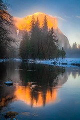 Yosemite Valley View! Colorful Clouds Sunrise! Sony A7R2 Winter Snow Bridalveil Falls El Capitan Snowy Rocks! Yosemite NP Dr. Elliot McGucken Fine Art Snow Photography!  Sony A7R II & 16-35mm F4 Carl Zeiss Wide Angle Lens! High Res 4k 8K Photos! (45SURF Hero's Odyssey Mythology Landscapes & Godde) Tags: yosemite colorful clouds sunrise nikon d850 national park winter snow tunnel view bridalveil falls el capitan snowy rocks np dr elliot mcgucken fine art photography sony a7r ii 1635mm f4 carl zeiss wide angle lens high res 4k 8k photos