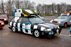 Start Carbage Run winter 2019 - Kopenhagen (FaceMePLS) Tags: kopenhagen copenhagen denemarken denmark scandinavië facemepls nikond5500 rally car voiture pkw wagen voertuig pfls61 1996subarulegacy20gl4wd carbageteam105 heraclesalmelo