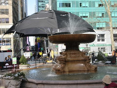 2019 Big Umbrella Academy in Bryant Park NYC 1337 (Brechtbug) Tags: big umbrella bryant park nyc 2019 february 02132019 new york city 6th avenue near 42nd st behind public library midtown manhattan the academy netflix tv series comic book based starting friday 15th bumbershoot umbrellas