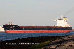 Mineral Subic (andreasspoerri) Tags: alltypesoftransport bulker hanjinbusan hongkong imo9456678 mineralsubic rotterdam transport