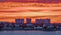 Sunset Boca Ciega Bay (vwalters10) Tags: sunset bay water clouds sky buildings florida