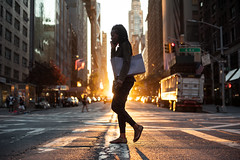 New York Minute (Airicsson) Tags: street urban sunset summer midtown silhouette manhattan light sun golden 57th epic cityscape symmetry nyc newyork city