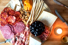 How to Make a Charcuterie Board Final 5 (Jossy D) Tags: charcuterie board meat cheese salami proscuitto olives walnuts apricots breadsticks