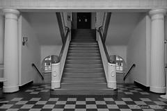 Nachts in der Schule (Sockenhummel) Tags: badsegeberg schule treppe treppenhaus staircase stairwell stairway escaliers architektur stairs stufen