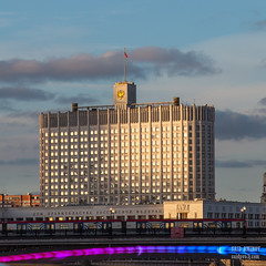 H18A6348 (Said Aminov) Tags: москва закат россия город moscow city sunset river bridge building march street sky ship