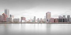 Model City (Vesa Pihanurmi) Tags: cityscape skyline tokyo tsukishima chå«å river architecture longexposure panorama chuo sumida japan