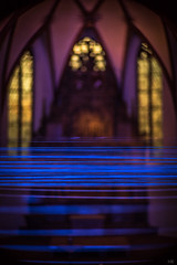 ≡≡≡≡≡ (*altglas*) Tags: liniaturen darmstadt light blue art church lines selectiveconceptualdof