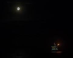 Moon over Oil Rig (Craig Hannah) Tags: oilrig platform offshore northsea moon night nightsky industry industrial march 2019 rig craighannah scotland uk sea lights work canon photography