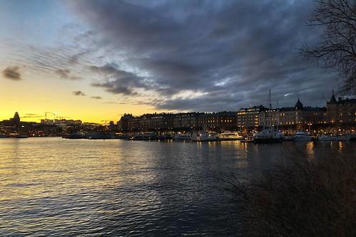 Stockholm. Sundown.