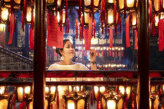 Ode 2 my muse (dejongbram) Tags: manmotemple hongkong china red woman beautifullight asiafavorites asia interior religion spiritual tripadvisor travel ngc nikond500 happyplanet