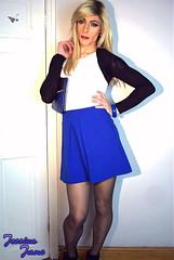 Blue Skirt (jessicajane9) Tags: tg crossdresser tgurl crossdress travesti feminization tv cd trans xdress transgender crossdressing tights feminised tgirl tranny transvestite m2f crossdressed