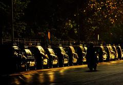 Shadow of generation UBER (Debmalya Mukherjee) Tags: debmalyamukherjee canon550d 18135 mumbai taxi cab kaalipeeli mumbaitaxi shadows sunset dusk road street