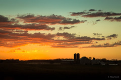 sun set silos (Jen MacNeill) Tags: weather lancaster county country rural pa pennsylvania countryside cold front storm evening sun set sunset colorful farm barn sky skies clouds cloudy