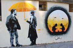 Le Mouvement + Otto Schade_5504 rue de la Corderie Paris 03 (meuh1246) Tags: streetart paris lemouvement ottoschade enfant parapluie paris03 ruedelacorderie
