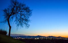 Arizona Sunset (WeatherlyKC) Tags: phoenix arizona sunset city citylights phoenixarizona bluesky sky
