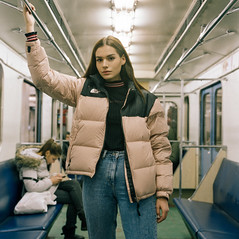 On the Subway (instagram.com/dimush) Tags: 120mm kodak portrait analog 120мм среднийформат rolleiflex28e portra grainisgood girl tlr 6x6 пленка film mediumformat rolleiflex портрет portra400 moscow